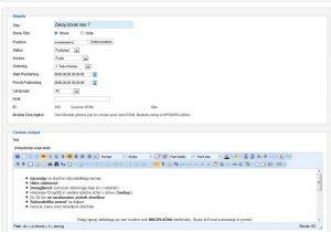 HTML modul urejevalnika